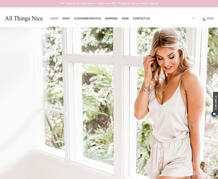 All Things Nice - WooCommerce eCommerce Website