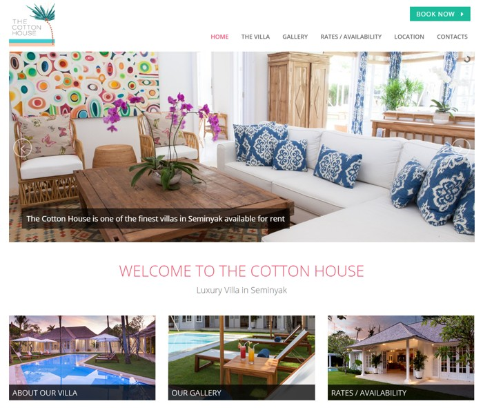 Web Design for The Cotton House Bali