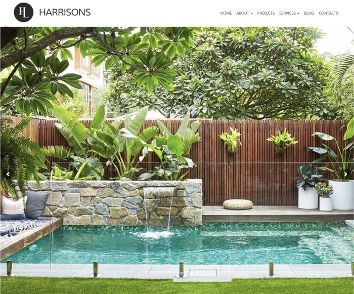 Web Design for Harrison's Landscaping