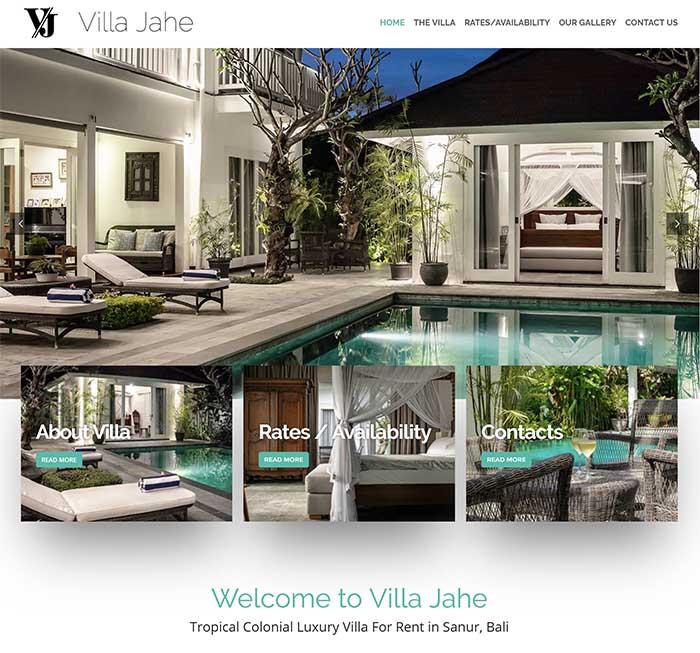 Villa Jahe - WordPress Website Perth