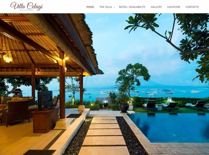 Website for Villa Celagi