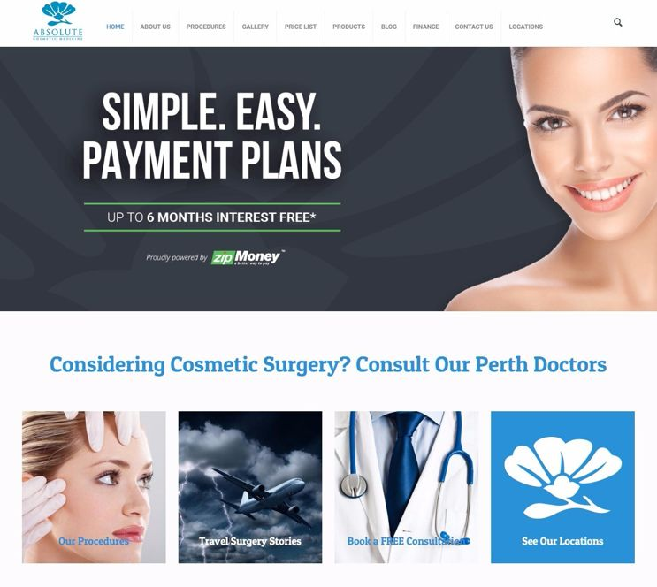 Slinky Web Design awarded Absolute Cosmetic Medicine contract