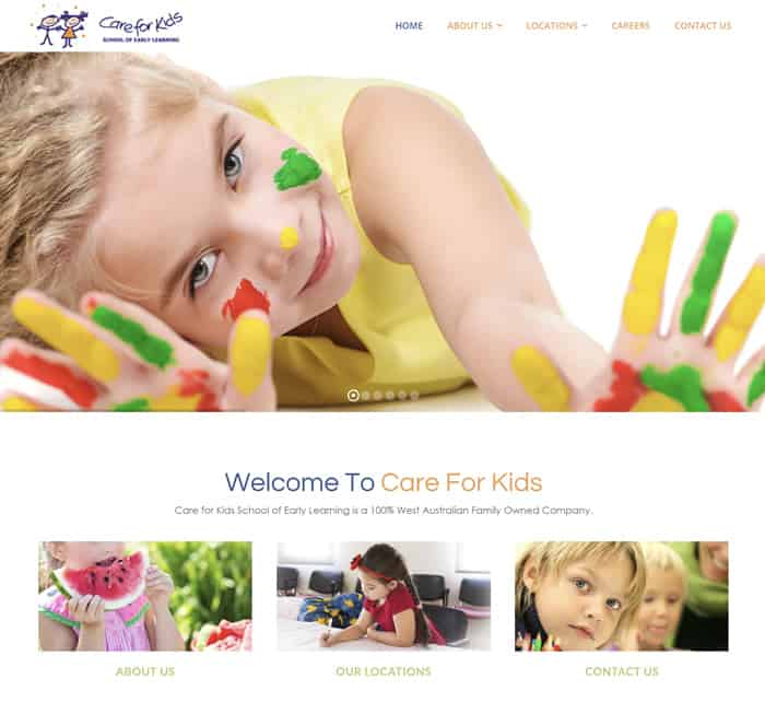 Web Design for Care For Kids