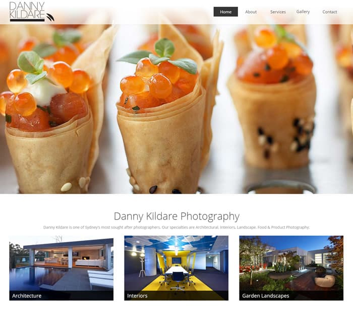 Web Design for Danny Kildare Photography