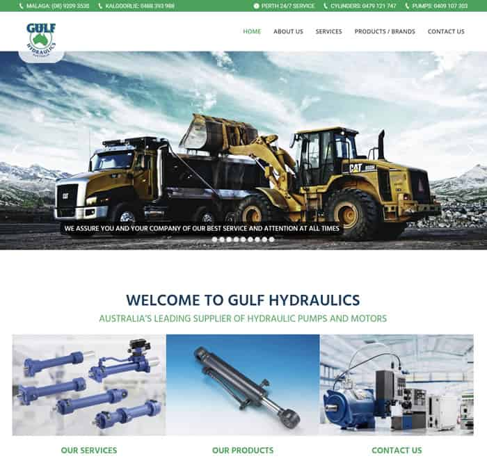 Web Design for gulfhydraulics.com.au