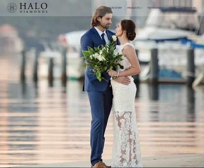 Web Design for Halo Diamonds
