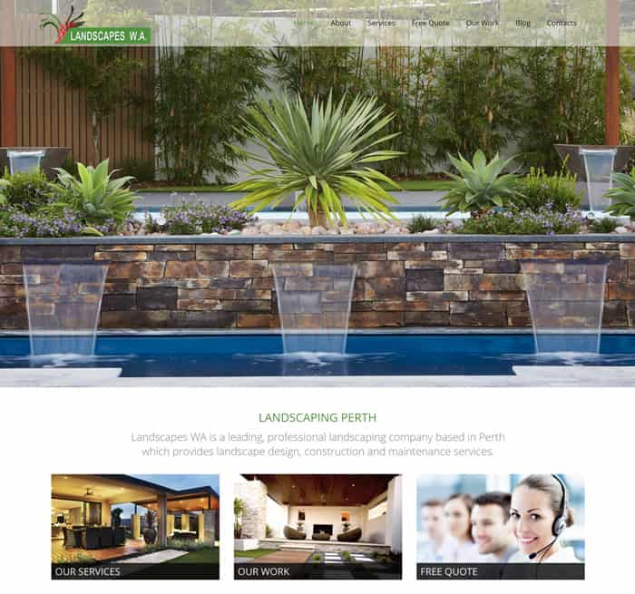 Web Design for landscapeswa.com.au