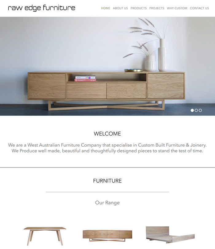 raw edge furniture