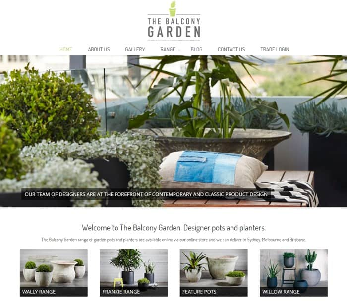 Web Design for The Balcony Garden