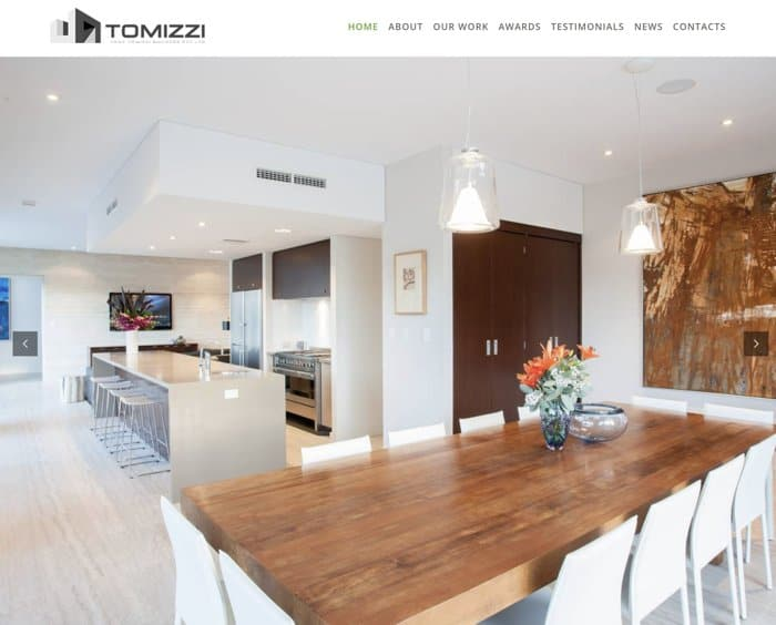 Web Design for tonytomizzibuilders.com.au