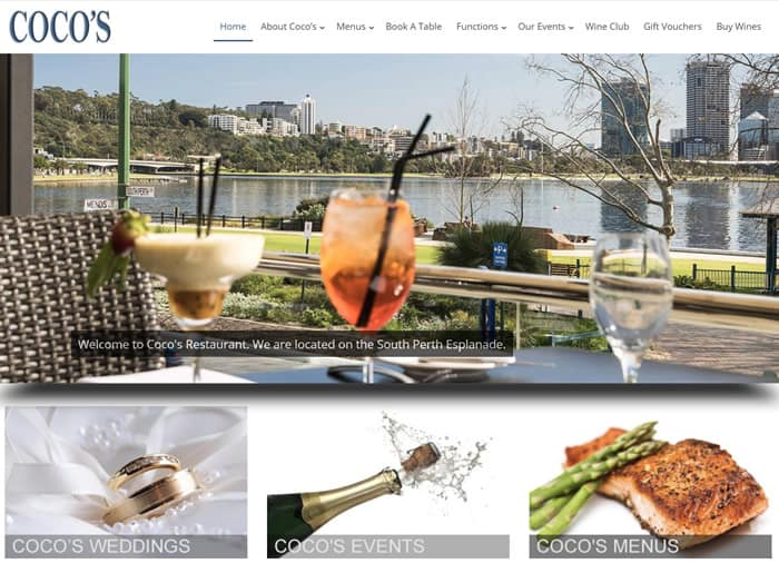 Web Design for Coco's Restaurant